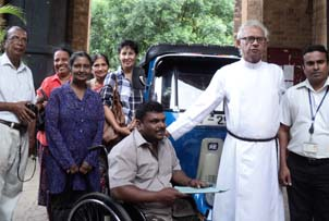 St. Paul's Church, Kandy, handing over three-wheeler