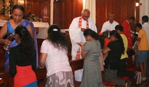 Worship at St. Paul's Church, Kandy